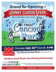 Grand Opening Of Johnny Carson Park @ Johnny Carson Park | Burbank | California | United States
