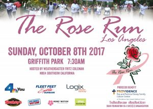 The 2017 Rose Run 5k For The Disney Family Cancer Center @ Crystal Springs Picnic Area