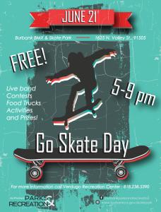 Burbank Parks & Rec FREE Skate Day @ Valley Skate Park  | Burbank | California | United States