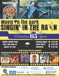 Movie in the Park: Singin' in the Rain @ Johnny Carson Park  | Burbank | California | United States