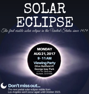 Solar Eclipse Viewing Party @ George Izay Park - Ballfield #1 | Burbank | California | United States