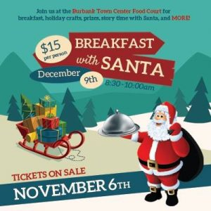 Breakfast With Santa @ Burbank Town Center Food Court