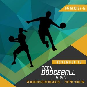Teen Dodgeball Night @ Verdugo Rec Center | Burbank | California | United States