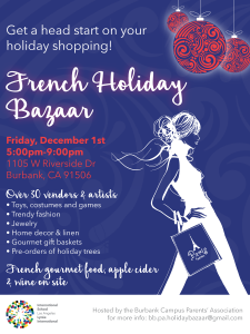 French Holiday Bazaar @ International School of Los Angeles – Burbank Campus | Burbank | California | United States