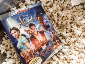 Aladdin On DVD In A Bowl Of Popcorn